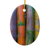 Miscellaneous - Chromatic Bamboos Pattern Ceramic Ornament