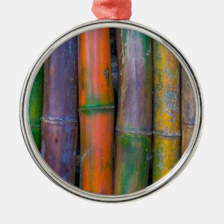 Miscellaneous - Chromatic Bamboos Pattern Metal Ornament