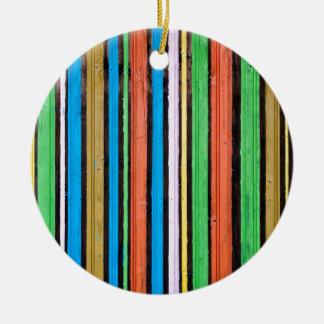 Miscellaneous - Colored Pattern Stripteases Ceramic Ornament