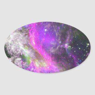 Miscellaneous - Colorful Space Nineteen Oval Sticker