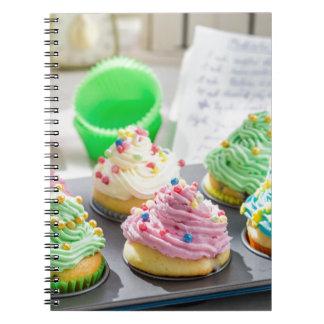 Miscellaneous - Cupcakes Patterns Fourteen Spiral Notebook