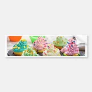 Miscellaneous - Cupcakes Patterns Thirteen Car Bumper Sticker