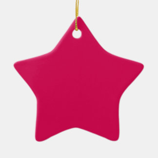 Miscellaneous - Debian Red Pattern Double-Sided Star Ceramic Christmas Ornament