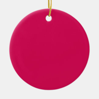 Miscellaneous - Debian Red Pattern Double-Sided Ceramic Round Christmas Ornament