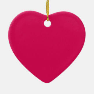 Miscellaneous - Debian Red Pattern Double-Sided Heart Ceramic Christmas Ornament