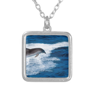 Miscellaneous - Dolphins Jump Eleven Silver Plated Necklace