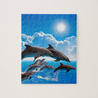 Miscellaneous - Dolphins Jump One Jigsaw Puzzle
