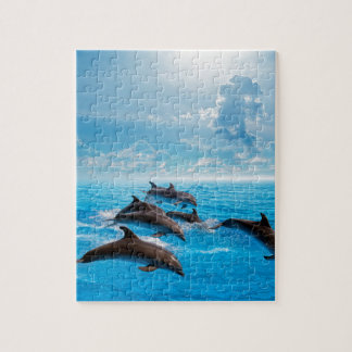 Miscellaneous - Dolphins Jump Seven Jigsaw Puzzle