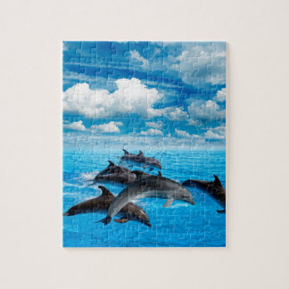 Miscellaneous - Dolphins Jump Six Jigsaw Puzzle