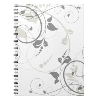 Miscellaneous - Floral Abstract Patterns Fourteen Spiral Notebook