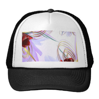 Miscellaneous - Floral Abstract Patterns Three Trucker Hat