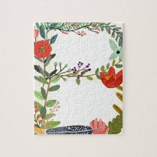 Miscellaneous - Floral Alphabet: Letter B Jigsaw Puzzle