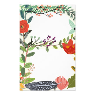 Miscellaneous - Floral Alphabet: Letter B Stationery