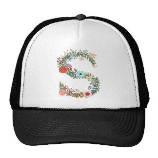 Miscellaneous - Floral Alphabet: Letter S Trucker Hat