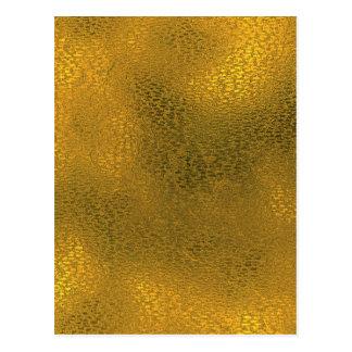 Miscellaneous - Gold Foil Nine Pattern Postcard