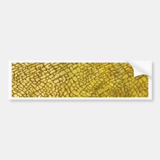 Miscellaneous - Gold Foil Snake Thirteen Pattern Car Bumper Sticker
