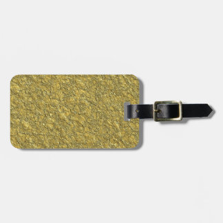 Miscellaneous - Gold Textures Patterns Fourteen Bag Tag