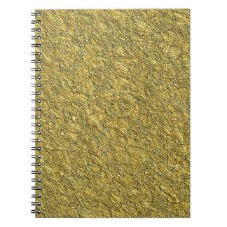 Miscellaneous - Gold Textures Patterns Fourteen Notebook