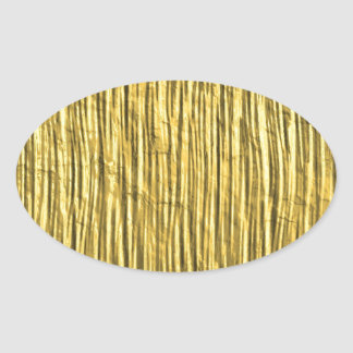 Miscellaneous - Gold Textures Patterns Nineteen Oval Sticker