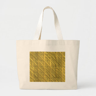 Miscellaneous - Gold Textures Patterns Thirty-Six Large Tote Bag