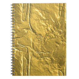 Miscellaneous - Gold Textures Patterns Twenty-One Spiral Notebook