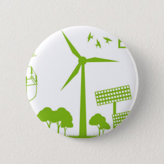 Miscellaneous - Green Energy Patterns Nine Pinback Button
