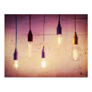 Miscellaneous - Lightbulbs Ten Postcard