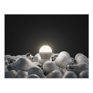 Miscellaneous - Lightbulbs Three Postcard