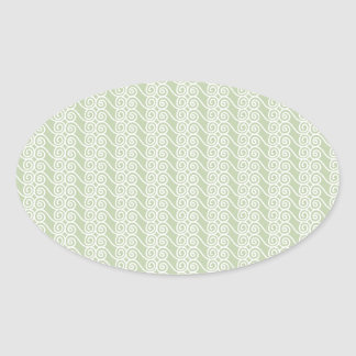 Miscellaneous - Lines Patterns Nineteen Oval Sticker