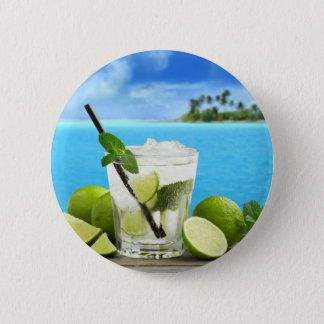 Miscellaneous - Mojito Cocktail One Pattern Pinback Button