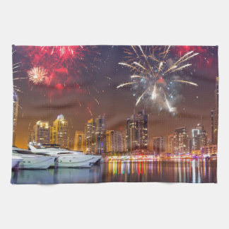 Miscellaneous - New Year Fireworks Patterns Eight Hand Towels