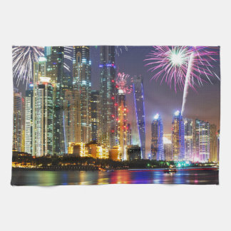 Miscellaneous - New Year Fireworks Patterns Kitchen Towel