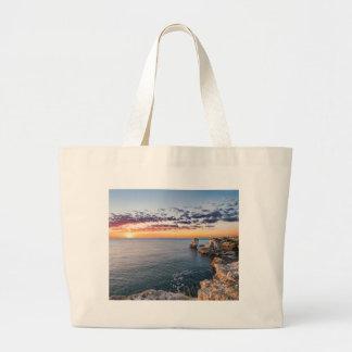 Miscellaneous - Ocean Beach Sunrise Furnace Large Tote Bag