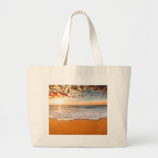 Miscellaneous - Ocean Beach Sunrise Six Large Tote Bag