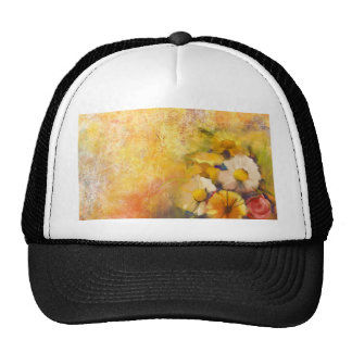 Miscellaneous - Painted Spring Flowers Pattern Six Trucker Hat
