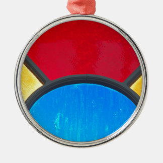 Miscellaneous - Primary Colors Design Metal Ornament