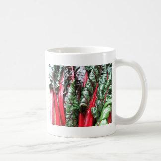 Miscellaneous - Rainbow Chard Red Pattern Classic White Coffee Mug