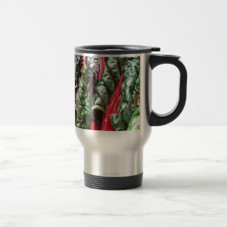 Miscellaneous - Rainbow Chard Red Pattern 15 Oz Stainless Steel Travel Mug
