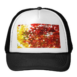 Miscellaneous - Red Autumn Patterns Two Trucker Hat