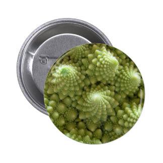Miscellaneous - Romanesco Broccoli Green Waves Pin Redondo 5 Cm