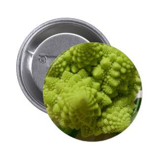 Miscellaneous - Romanesco Broccoli & Leaves Pin Redondo 5 Cm
