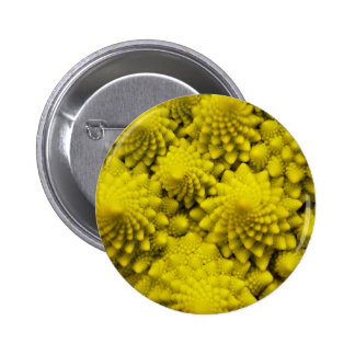 Miscellaneous - Romanesco Broccoli Waves Pattern Pin Redondo 5 Cm