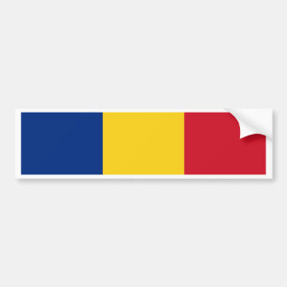 Miscellaneous - Romania Flag Pattern Pegatina Para Auto