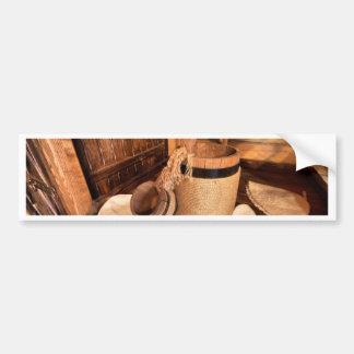 Miscellaneous - Sauna Objects Pattern Twenty-Three Bumper Sticker