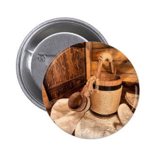 Miscellaneous - Sauna Objects Pattern Twenty-Three Pinback Button