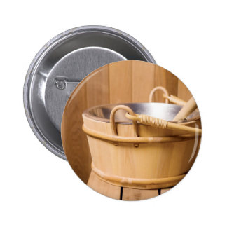 Miscellaneous - Sauna Objects Patterns Button