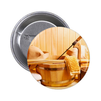 Miscellaneous - Sauna Objects Patterns Eleven Pinback Button