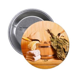 Miscellaneous - Sauna Objects Patterns Fifteen Pinback Button