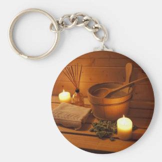Miscellaneous - Sauna Objects Patterns Nineteen Keychain
