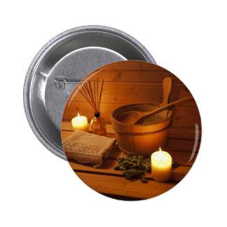 Miscellaneous - Sauna Objects Patterns Nineteen Pinback Button
